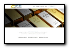 Cipher Resources Inc. is a base and precious metals exploration and development company listed on the TSX Venture Exchange under the symbol CIFR