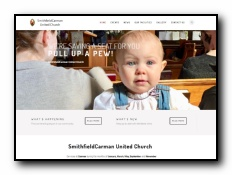SmithfieldCarman United Church - Congregations of two neighbouring churches, Smithfield United Church, a village church, and Carman United Church, a rural church, have worshipped together as the Smithfield Carman United Church, since June, 2017